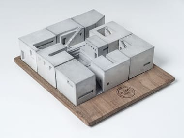 Concrete architectural model Miniature Concrete Homes (Complete Set)
