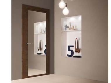 Mirrored glass door Mirrored door