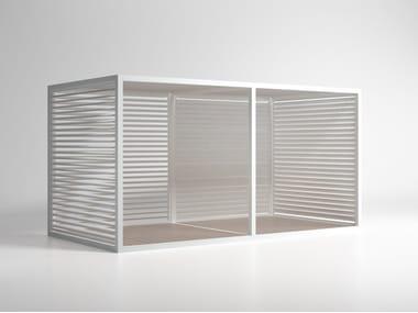 Adjustable aluminium solar shading Mobile Blades Sidewalls
