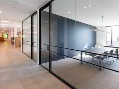 Glass office partition Modular office walls