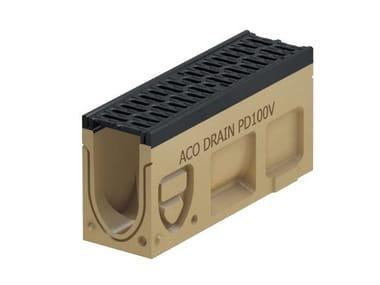 Elemento di ispezione per canale di drenaggio Monoblock PD100 V - Elemento d'ispezione