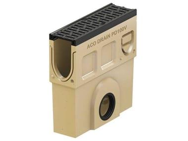 Pozzetto di scarico in calcestruzzo polimerico Monoblock PD100 V - Pozzetto di scarico