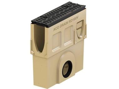 Pozzetto di scarico in calcestruzzo polimerico Monoblock RD100 V - Pozzetto di scarico