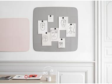 Wall-mounted glass office whiteboard Flow Wall