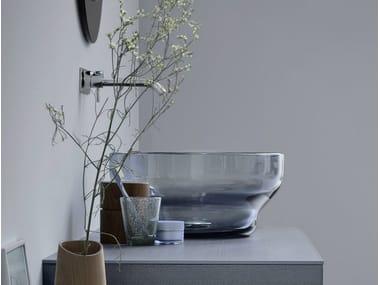 Lavabo da appoggio rotondo in vetro di Murano Lavabo in vetro di Murano