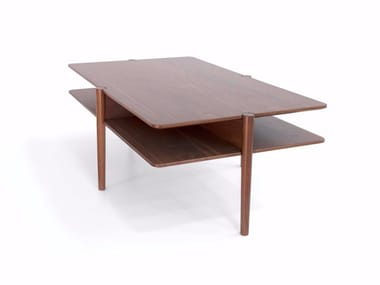Rectangular wooden coffee table NÍVEL | Rectangular coffee table