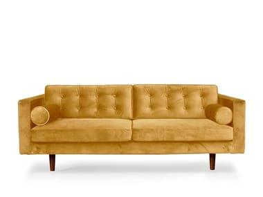 Tufted 3 seater velvet sofa N 101