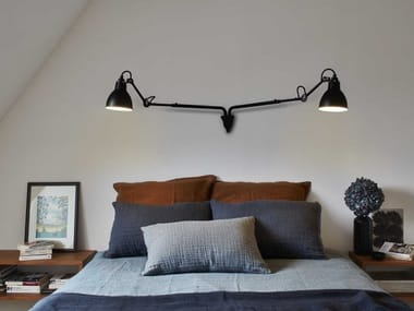 Lampada da parete orientabile in acciaio N°203 DOUBLE