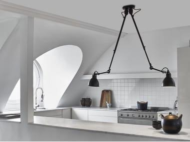 Lampada da soffitto orientabile in acciaio N°302 DOUBLE
