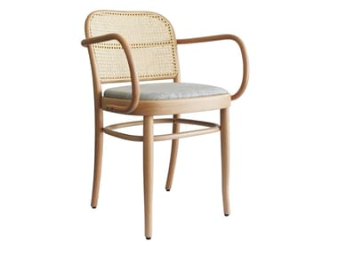 Upholstered beech chair with armrests N. 811 | Chair with armrests