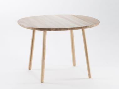 Tavolo da pranzo rotondo in legno massello NAÏVE   Tavolo rotondo