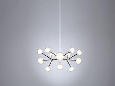 Lampada a sospensione in metallo e vetro borosilicato NABILA | Lampada a sospensione