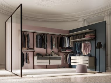 Sectional walk-in wardrobe NAKED