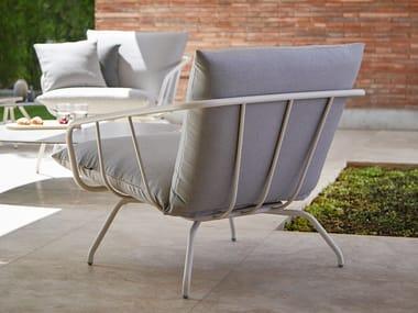 Garden armchair with armrests NANSA | Garden armchair with armrests