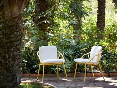 Sedia impilabile con braccioli NANSA | Sedia impilabile