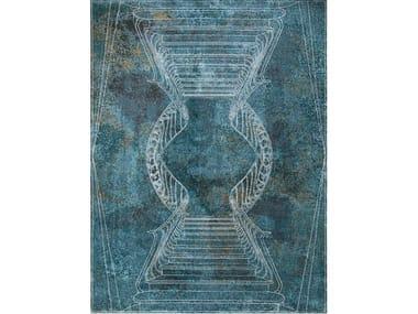 Handmade rectangular rug NAPOLI SMERALDO