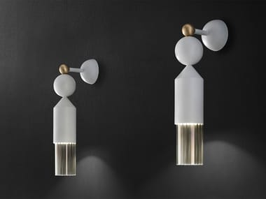 LED painted metal wall lamp NAPPE APP N4