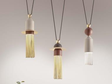Luminária pendente LED de metal com pintura NAPPE C3