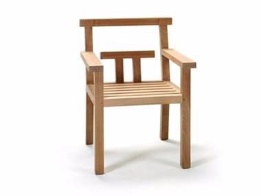 Sedia in teak con braccioli NARA | Sedia con braccioli