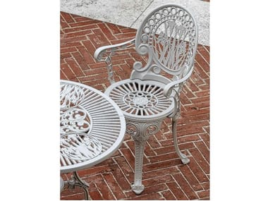 Aluminium garden chair with armrests NARCISI | Chair with armrests