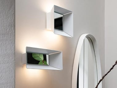 LED indirect light aluminium wall light NARCISO