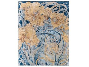 Handmade custom rug GLADIOLUS