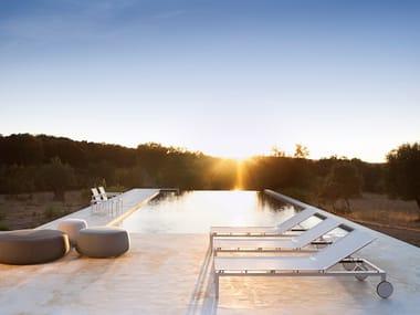 Recliner Batyline® sun lounger with castors NATAL ALU | Sun lounger
