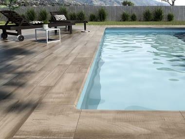 Pavimento in gres porcellanato effetto legno NATURA ETNA