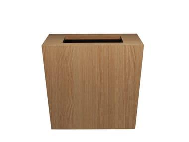 Portavaso basso quadrato con irrigazione automatica NATURA | Portavaso quadrato