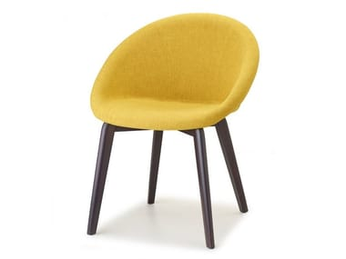 Upholstered fabric chair NATURAL GIULIA POP | Chair