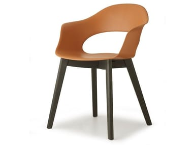 Technopolymer chair with armrests NATURAL LADY B | Chair
