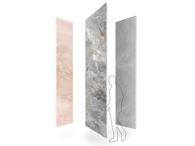 Indoor or outdoor marble floor / wall tiles NATURAL SKIN XXL