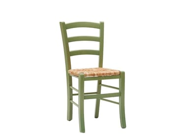 Open back straw restaurant chair NATURE