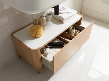 Storage floorstanding bathroom cabinet NATURE | Bathroom cabinet