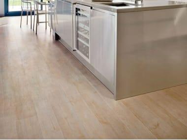 Pavimento in gres porcellanato effetto legno NATURE WHITE