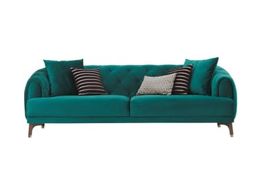 Tufted 3 seater fabric sofa NAVONA | Sofa