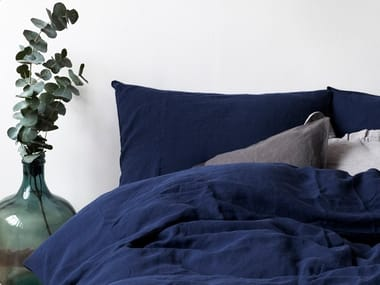 Washed linen Bed Set NAVY | Bedding set
