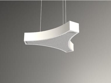 Pannello acustico a sospensione / lampada a sospensione NCA LINK3 D1000-1500-2000A | Lampada a sospensione