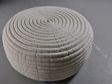 Wool felt pouf NDEBELE | Wool felt pouf