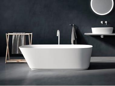 Vasca da bagno centro stanza ovale in Cristalplant® NEB | Vasca da bagno
