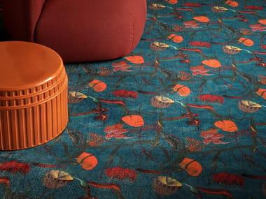 Polyamide carpeting with floral pattern NEBULA