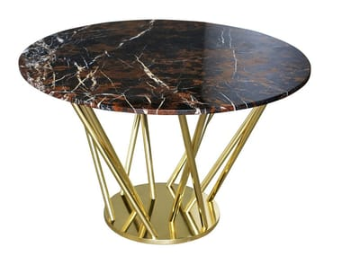 Round marble dining table NEBULA | Table