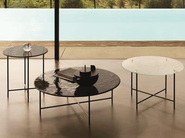 Low round metal coffee table for living room NEMU
