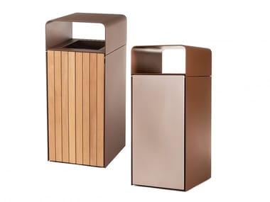 Metal litter bin with ashtray NEO