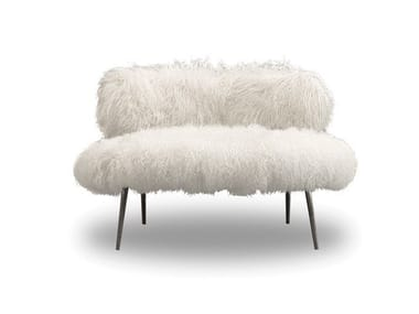 Upholstered fur armchair NEPAL MAMA