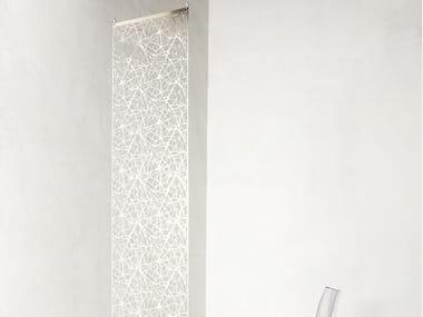 Hanging stainless steel room divider NEREA