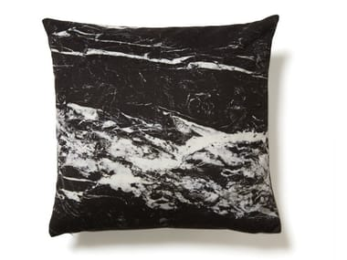 Square cushion NERO MARQUINA MARBLE