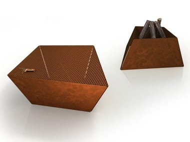 Corten™ coffee table / fire baskets NERONE