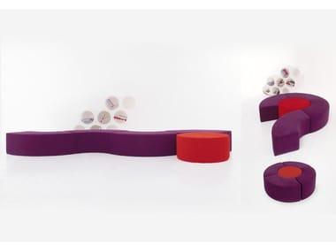 Upholstered modular bench NESOS