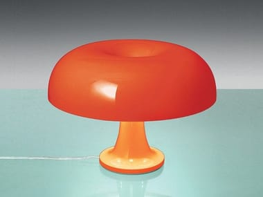 Halogen polycarbonate table lamp NESSINO